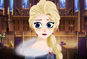 Elsa in Tangled series style by Biscuitmonstergirl1