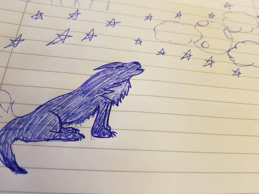 My First try howling Wolf.  by ENDOSKELETON354