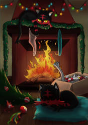 Litten Christmas by Sofalein