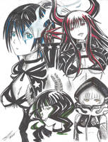 Black Rock Shooter Characters by Loli-Con-Artist
