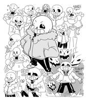 SaNs And PapYRus skETcheS by SnajeyArt