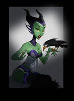 Maleficent at Midnight by knytcrawlr