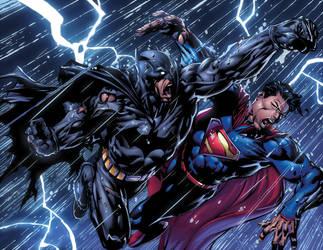 Batman Dark Knight Issue 5 Double Pager 2 XGX by knytcrawlr
