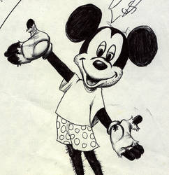 poor Mickey, ballpoint doodle by oscillatorsweep