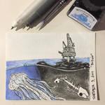 Inktober 3, 2017 'Poison' by vertseven