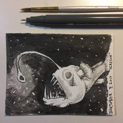 Inktober 9, 2017 'Screech' by vertseven