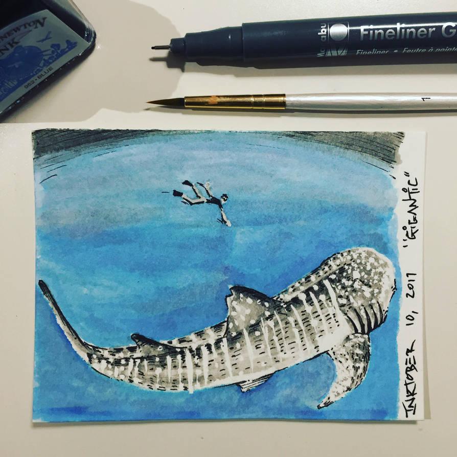 Inktober 10, 2017 'Gigantic' by vertseven