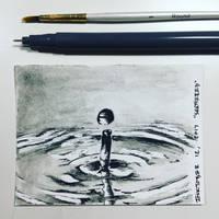 Inktober 12, 2017 'Shattrted' by vertseven