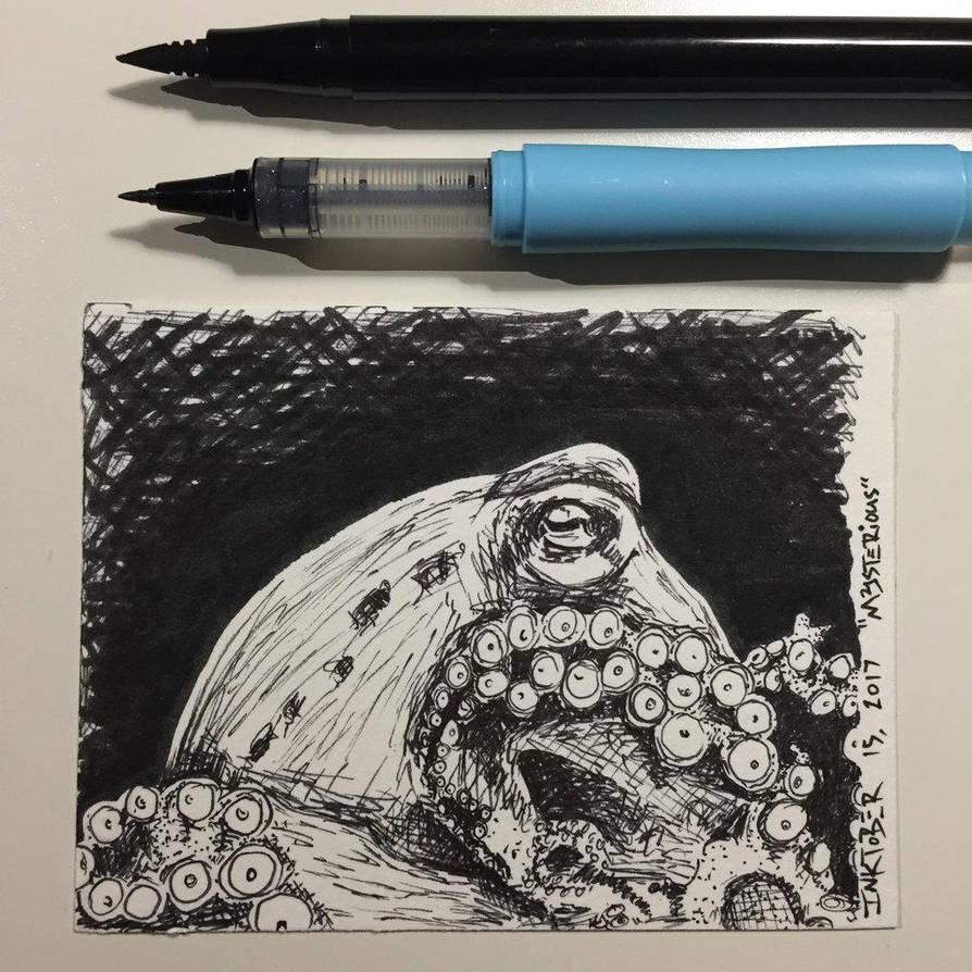 Inktober 15, 2017 'Mysterious' by vertseven