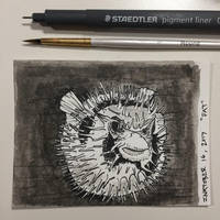 Inktober 16, 2017 'Fat' by vertseven