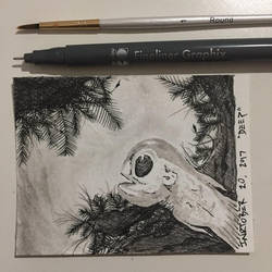 Inktober 20, 2017 'Deep' by vertseven