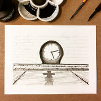 Inktober 14, 2018 Clock by vertseven