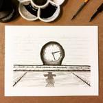 Inktober 14, 2018 Clock by vertseven