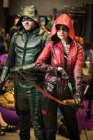 Speedy and Green Arrow, AVA EXPO 2017 by Shiera13