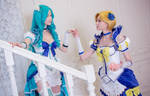 Sailor Neptune and Sailor Uranus by Shiera13