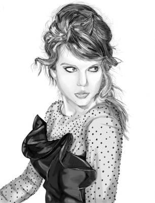 Taylor Swift Portrait by Isdailic