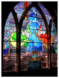 Disneyland - stained glass by saddiamonds
