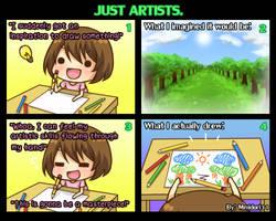 Chibi Reiko #11 - Just artists. by mmidori31