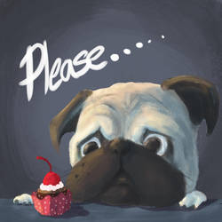 Pug of the day - Please ... by SEEZ85