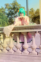 Macross Frontier - Thinking of a new song by CherryMemories