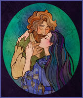 Beren and Luthien by Tanmorna
