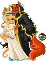 Neopets Amira and Jazan by gundunim