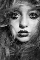 In Captivity of Hair BW by michelleu