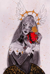 Sacred heart by FishboneArt