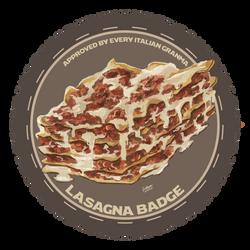 Lasagna badge by FishboneArt