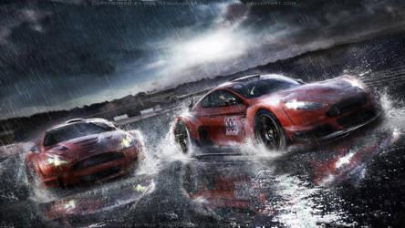 Aston Martin racing scene by RS--Design