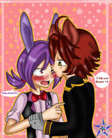 Yaoi.:Fonnie 2:.I like you bunnie~ by cristinathehedgehog