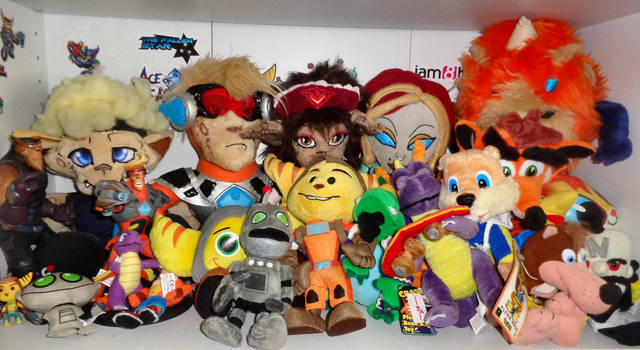 Video Game Plushie Collection by Lurking-Leanne