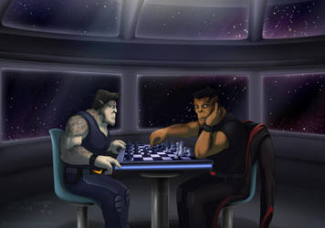 Commission - Vaelidian Chess by Lurking-Leanne