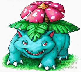 Pokemon Commish - Venusaur by Lurking-Leanne