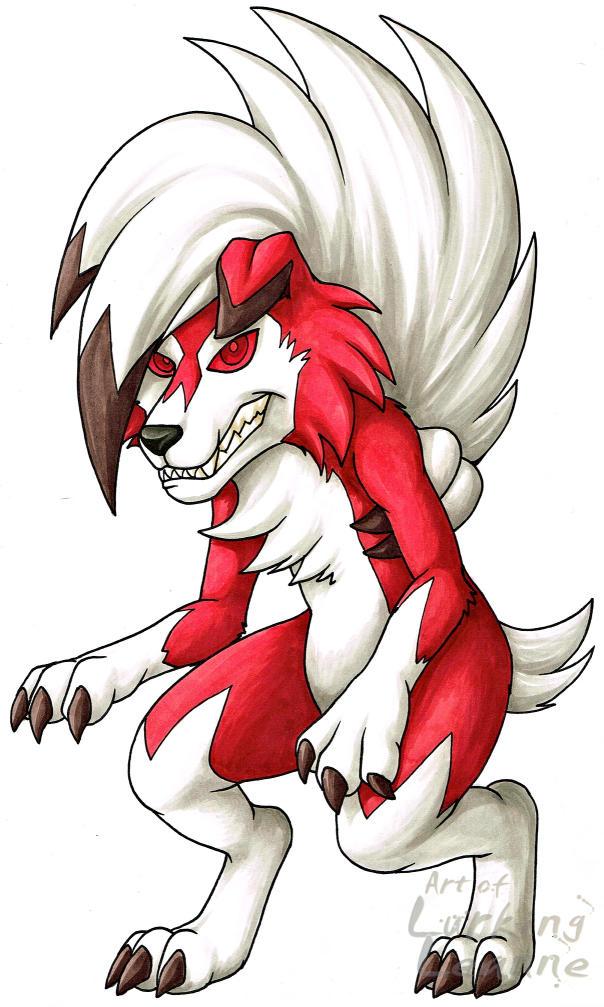 Pokemon - Lycanroc (Midnight) by Lurking-Leanne