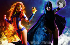 Starfire and Raven POSTER by stylechameleon