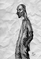 Caricature of Snoop Dogg by cheatingly