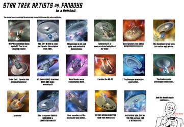 Trek Artists vs Fanboys by Jetfreak-7