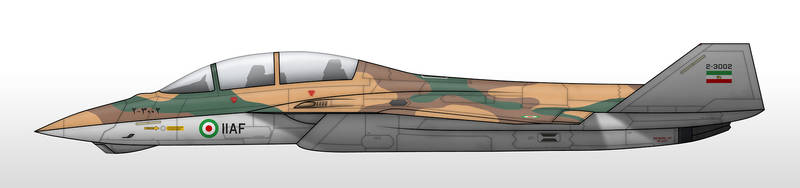 F-33IR - Imperial Iranian Air Force by Jetfreak-7