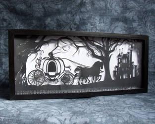 Cinderella's Dream Hand Cut Papercut by ladysilver2267
