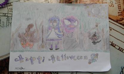 hi happy hallowen by noahpokeART