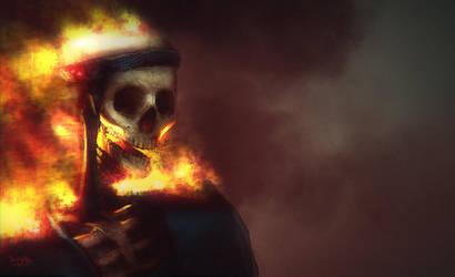 Burning Skeleton by Dumaker