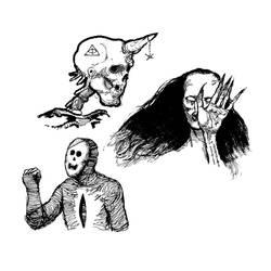 Doodling Inktober 1-2018 by Dumaker