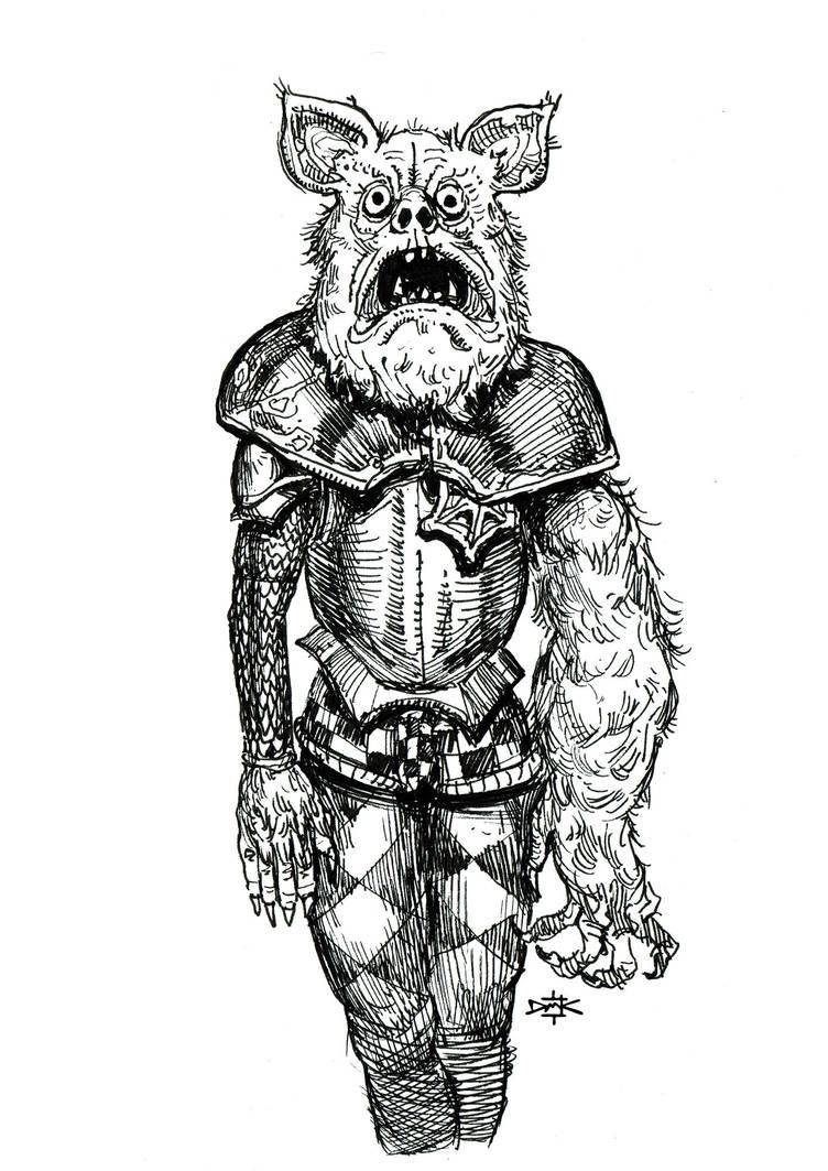 Weird Werewolf Knight by Dumaker