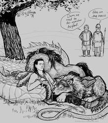 Loke/Loki and three of his kids by Devilry