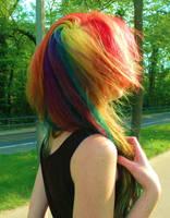 Rainbow hair. by Arwey