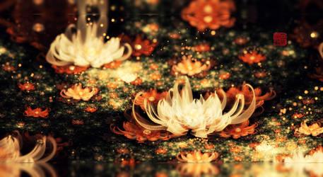 Lotus Lake by fractist