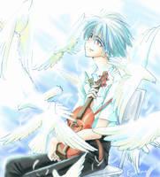 Violin and Kaworu by eguana