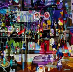 Beauty Machine, 48x48, o/c by alanammann