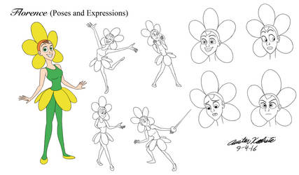 Florence (Poses and expressions) by AustinKalista